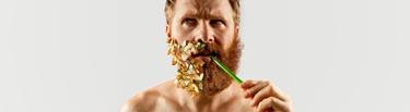 portada mitad de barba surrealista