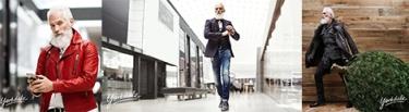 portada santa claus moderno flaco catalogo de ropa masculina modelo